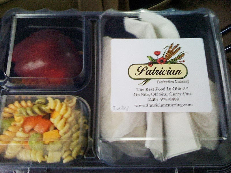 Catered lunch to-go
