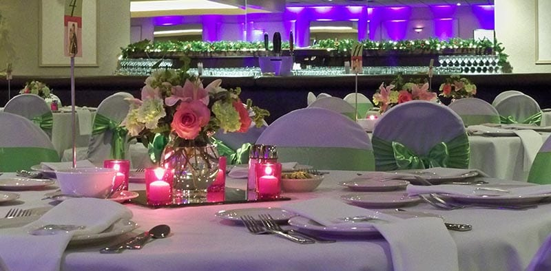 Table at Patrician Catering set for wedding