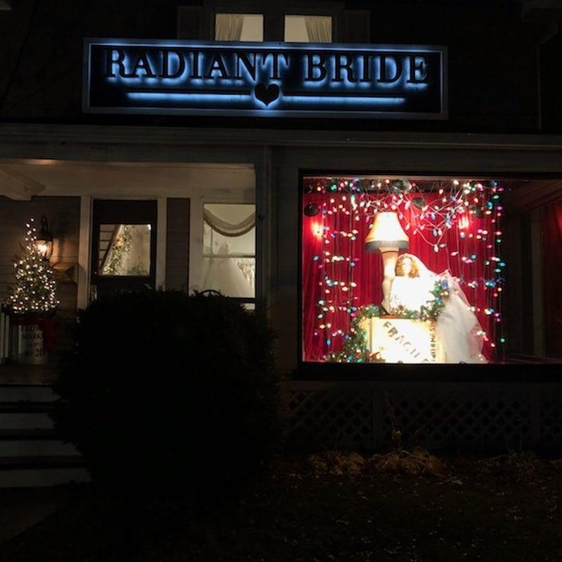 Radiant Bride window photo - holiday