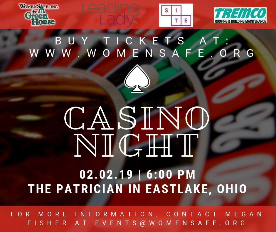 You Re Invited Casino Night To Benefit Womensafe At